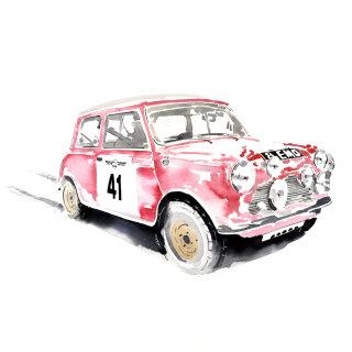 Mini Cooper racing car