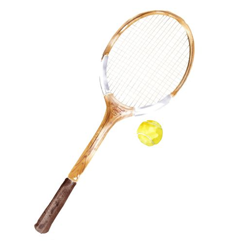 Sport and fitness watercolour Tennis racket