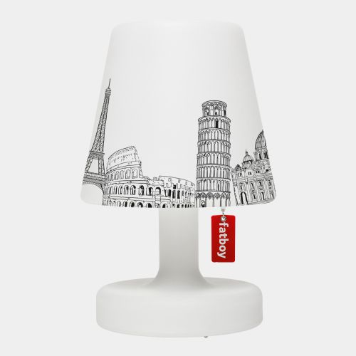 Iconic buildings illustrated on Fatboy lamp