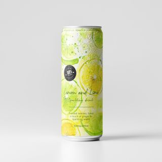 Lemon and lime sparkling drinks can