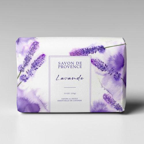 Water colour lavender soap
