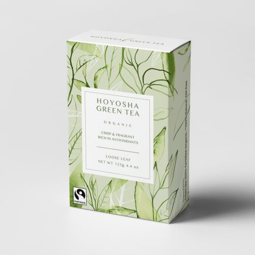 watercolour art of Green tea box packaging