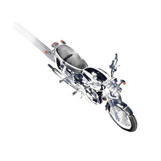 Illustration on bike