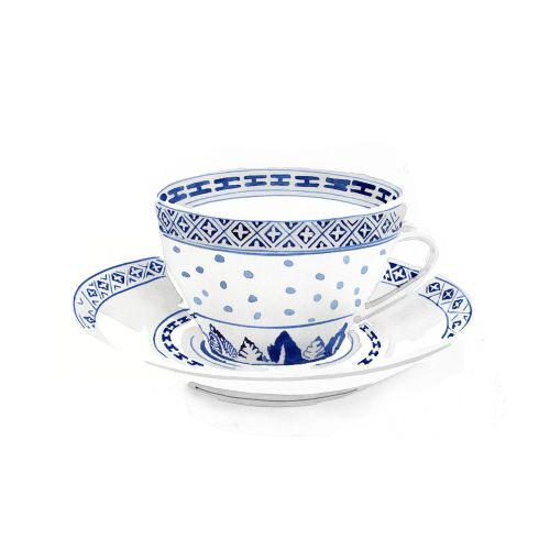 Cup and saucer illustration