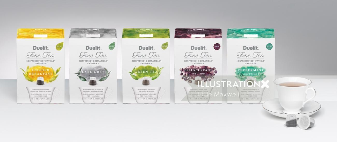 Packaging art of Fine tea