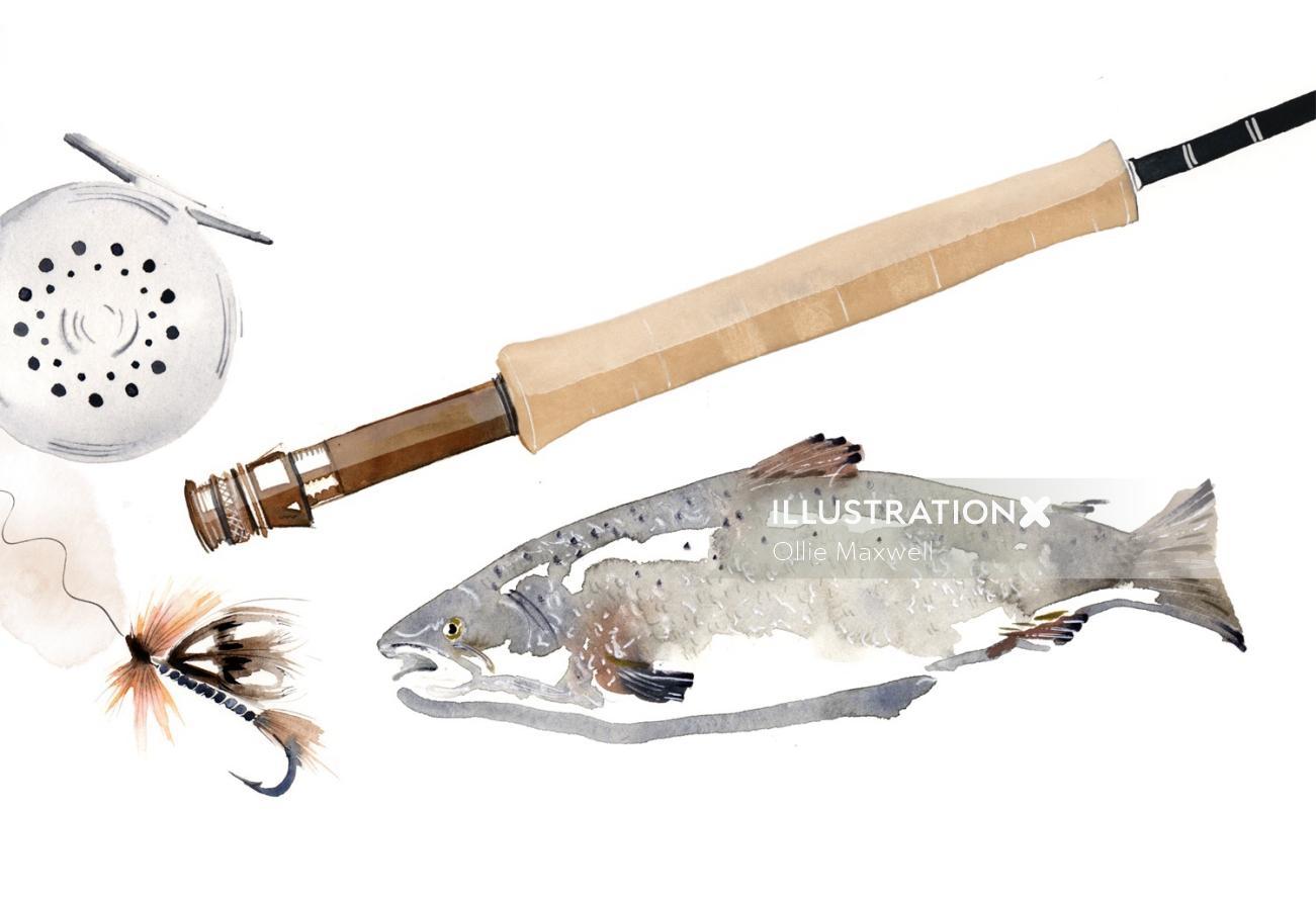 Multiple fishing equipment