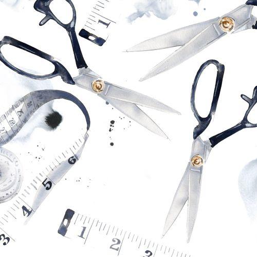 Tape and scissors illustration