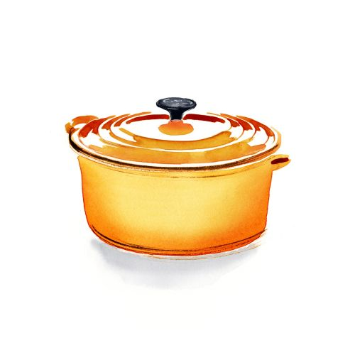 le creuset pan painting