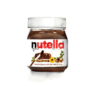 Oil painting of nutella product