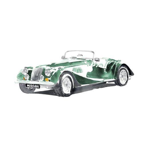 Classic Green retro car