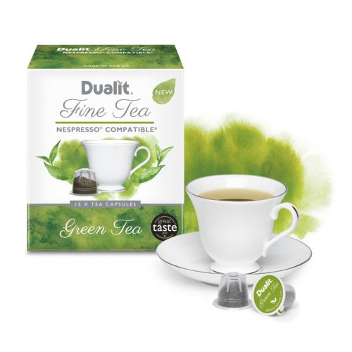 Green tea box packaging illustration