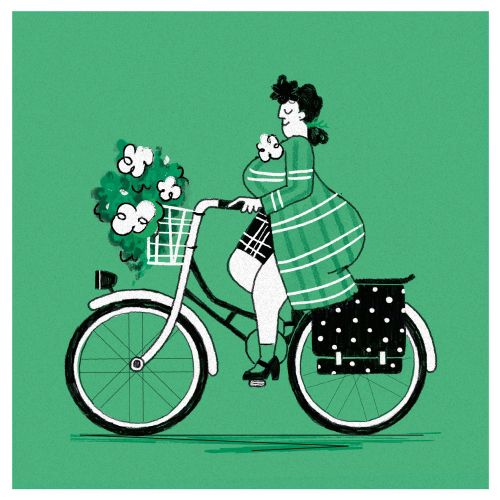 Fat Women on bicycle
