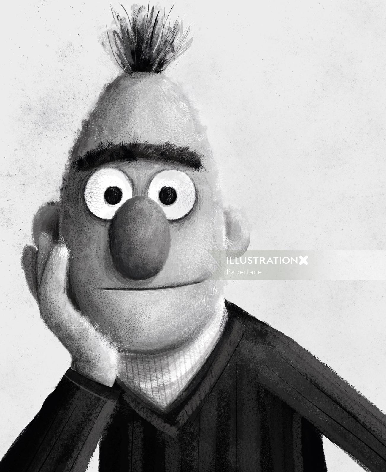 Bert black and white