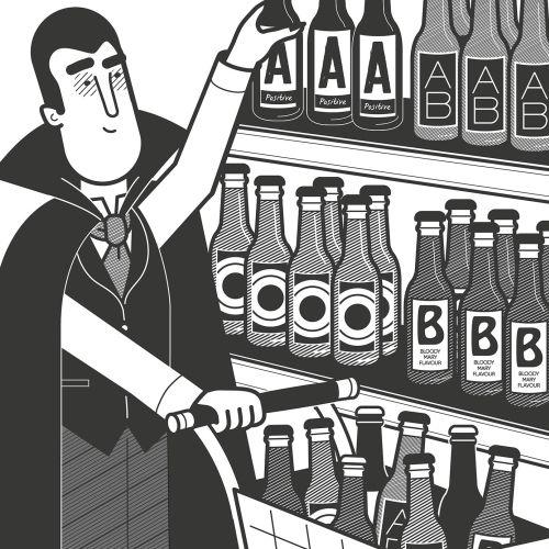 Black & White Vampires, Blood, Shopping