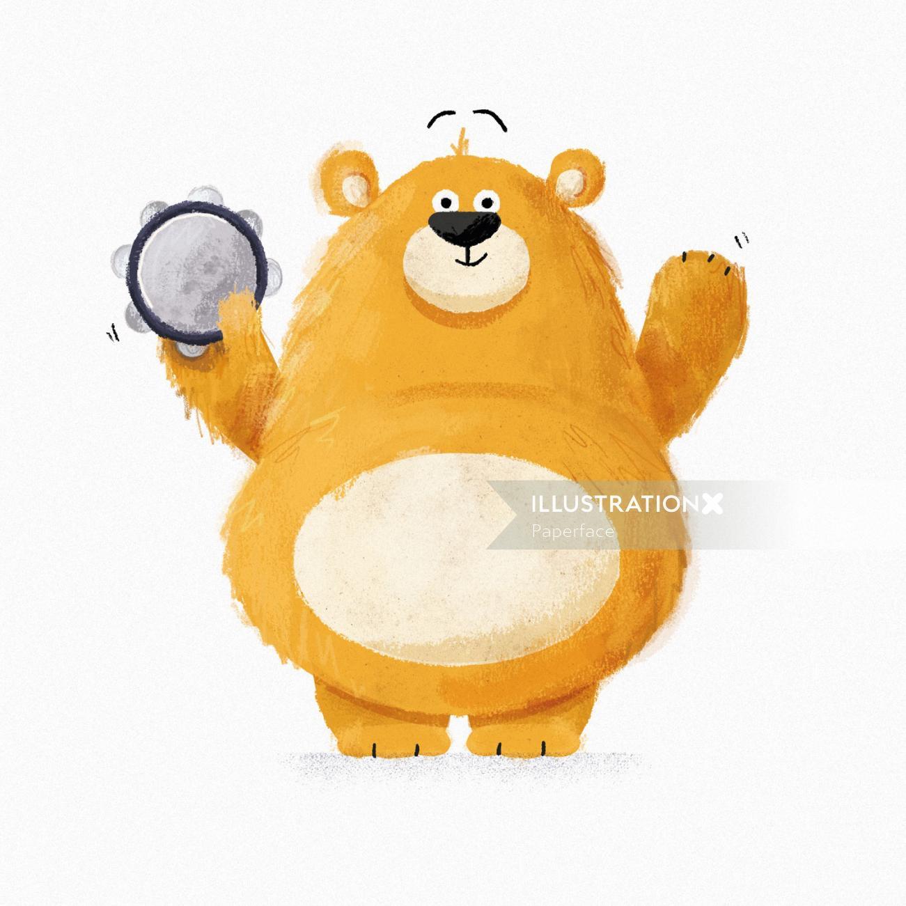 Musical Bear design