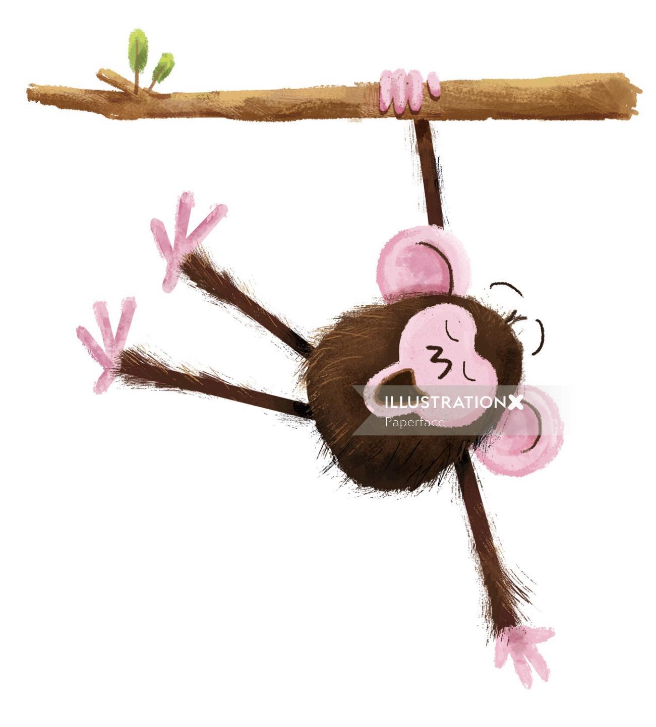Character design of monkey