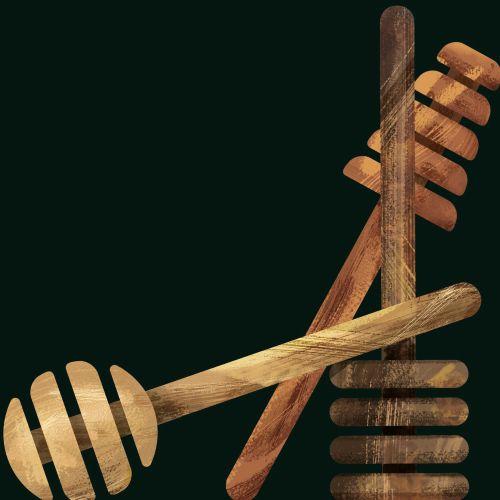 Wooden Honey Dippers