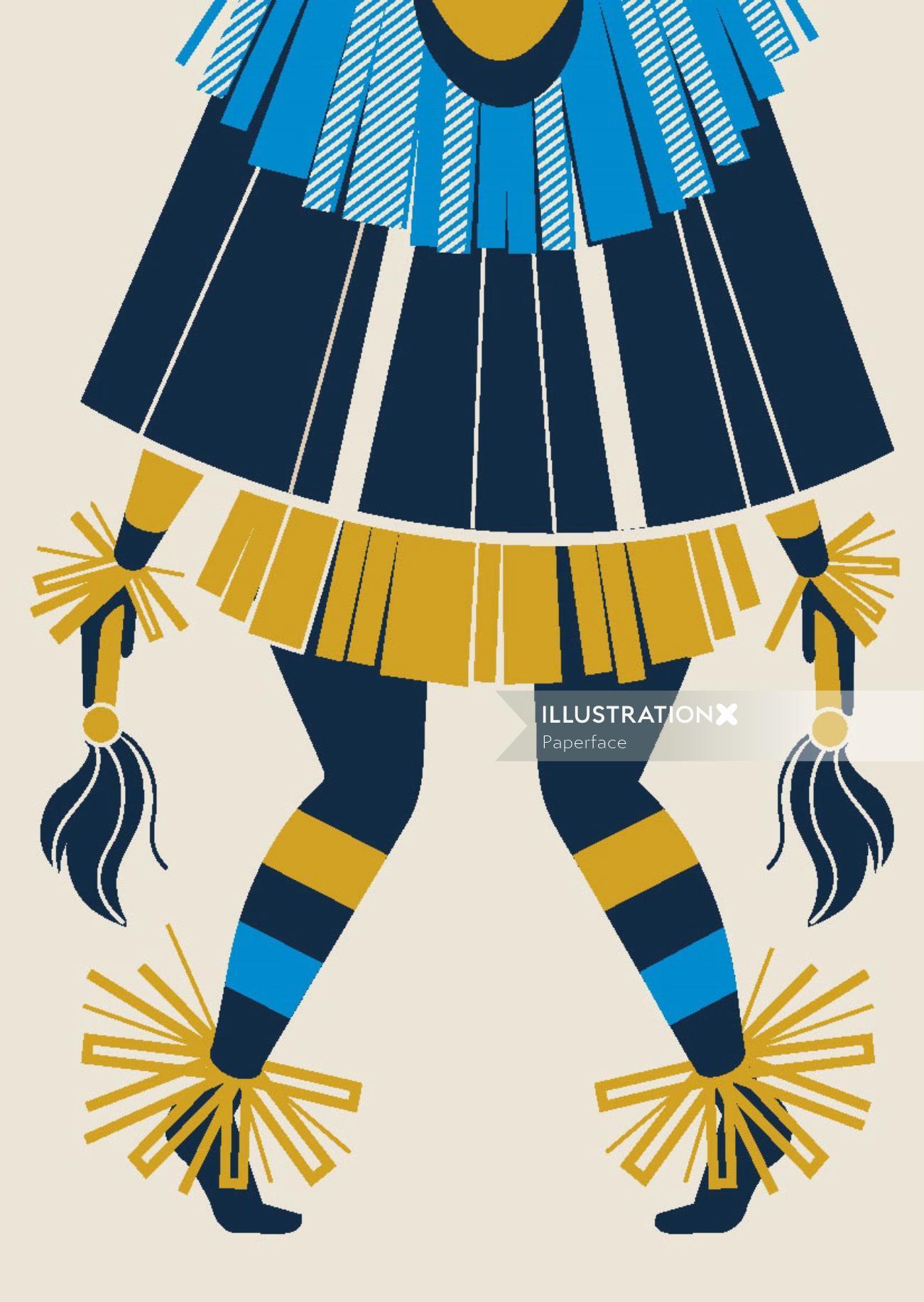 Illustration of African dance