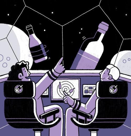 Buscando corajosamente novos vinhos