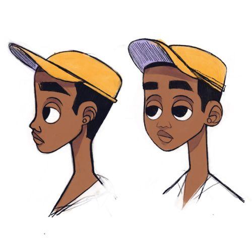 Boy facial expressions character design
