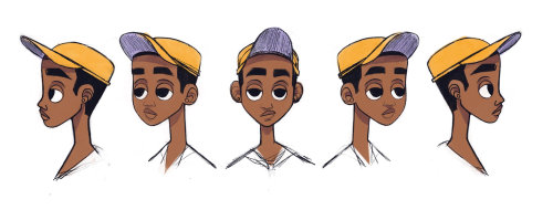 Boy facial expressions character design
