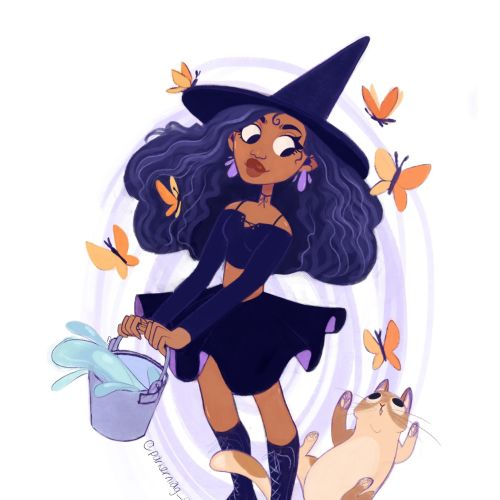 Witch character digital painting