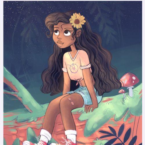 Fantasy girl illustration by Parker Nia Gordon