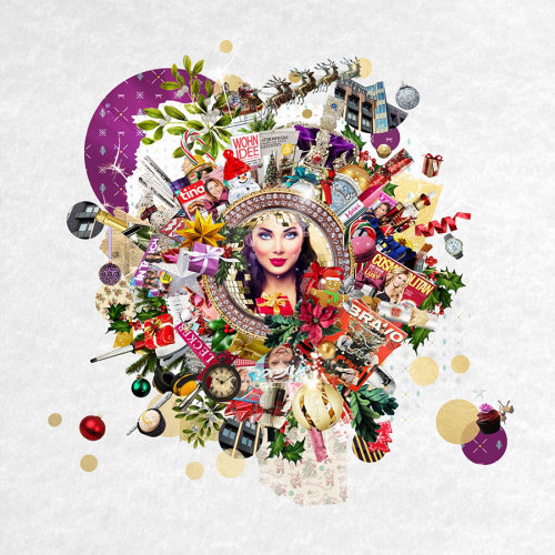 Collage & montage Woman and gifts