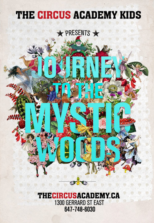 Collage & Montage Journey to the mystic woods