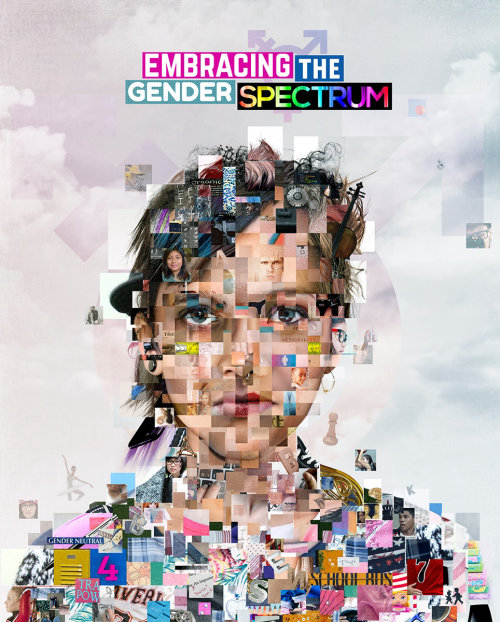 Editorial collage of woman