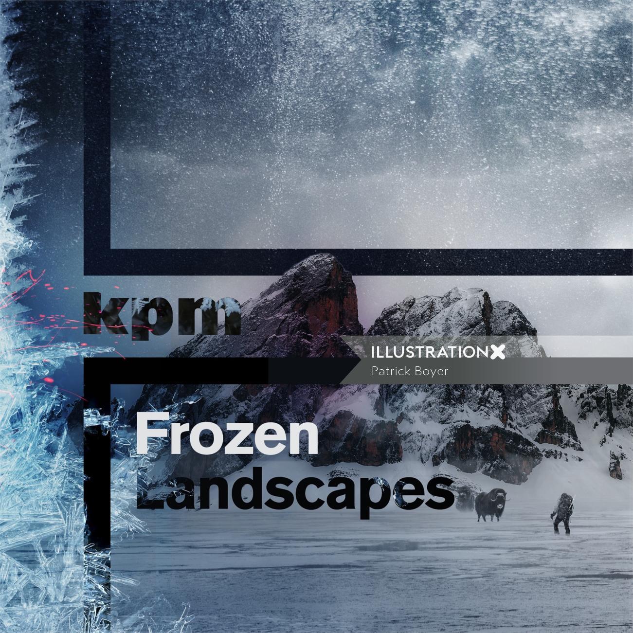 frozen landscape album cover by patrick boyer