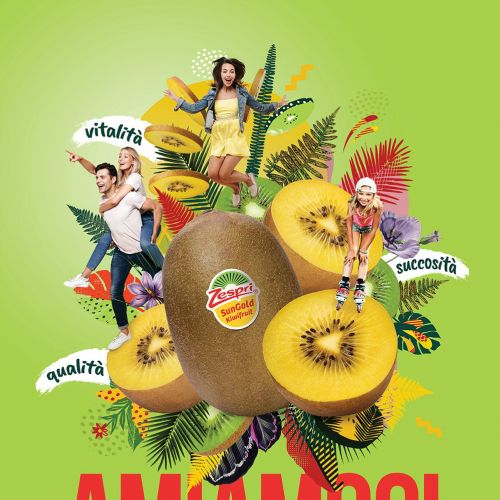 Photo montage Kiwi fruit Zespri Italy
