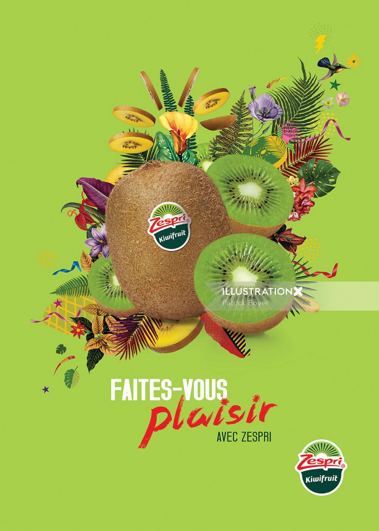 Fruit photo montage zespri France
