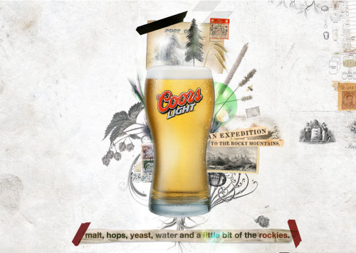 Beer collage illustration by Patrick Boyer