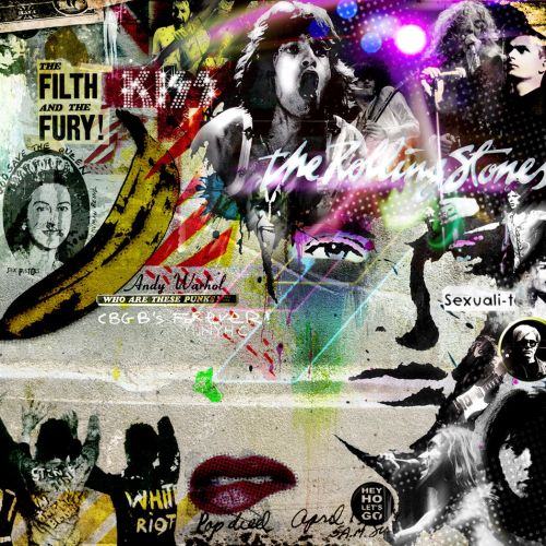 Retro and pop art of rock star