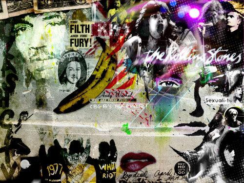 Retro and pop art of rock star