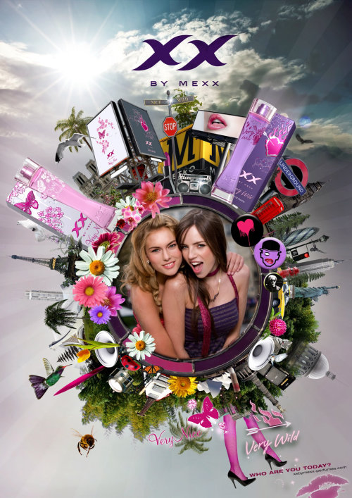 Floral packaging illustration Mexx XX - World