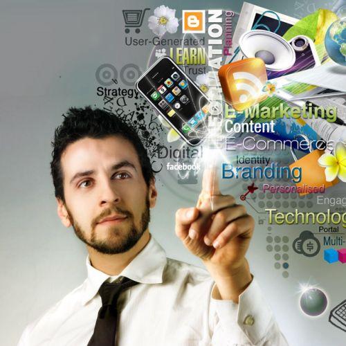 Online business illustration by Patrick Boyer