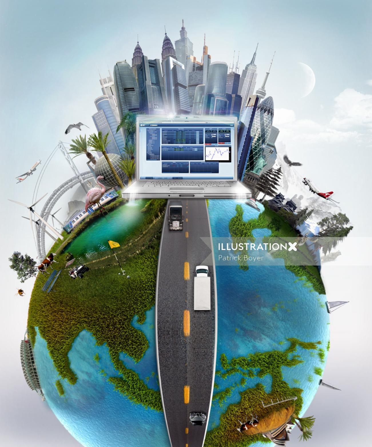 CMS market concept illustration by Patrick Boyer