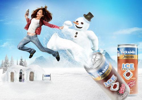 Jacobs Icepresso KICK poster art