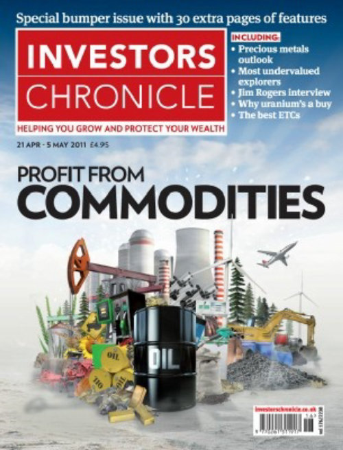 Magazine cover of investors chronicle - An illustration by Patrick Boyer