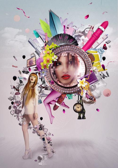 conceptual illustration of Fashion woman