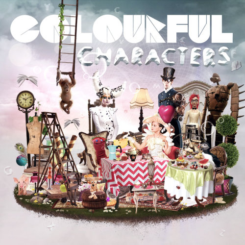 Coloful characters of people