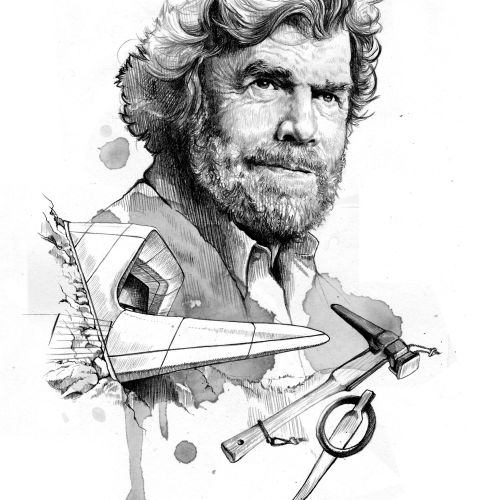portrait of Reinhold Messner