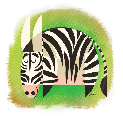Zebra generada por computadora