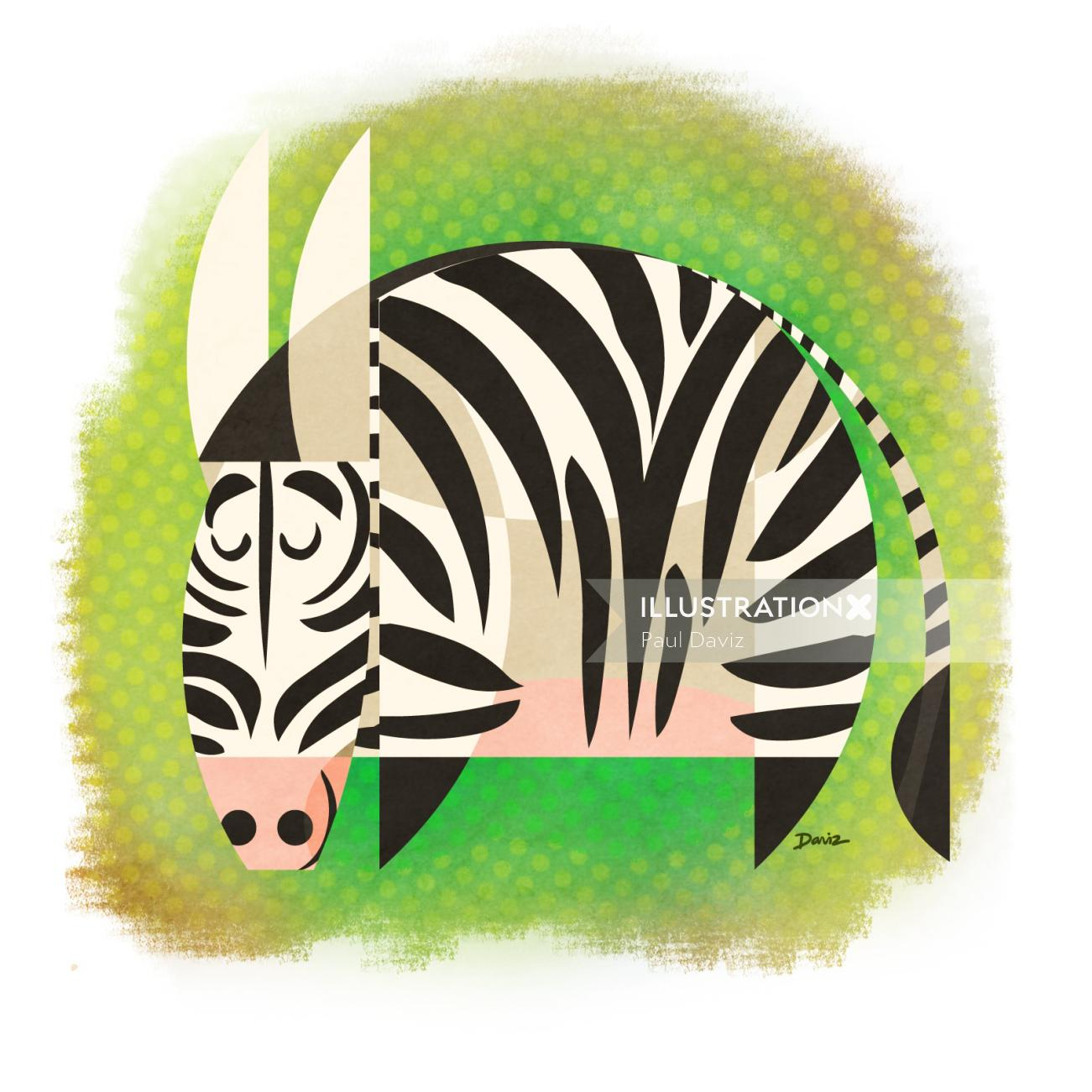Computer Generated Zebra