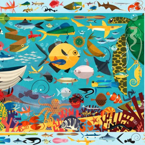 Ocean jigsaw art by Paul Daviz