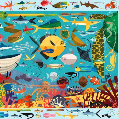 Ocean jigsaw art by Paul Daviz