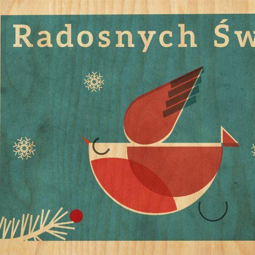 Robin Retro Greeting card for Stolarnia Kartek