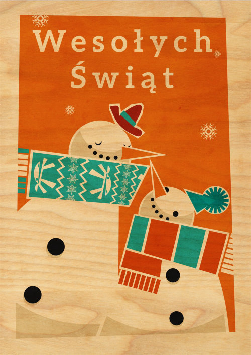 Snowmen Graphic greeting card